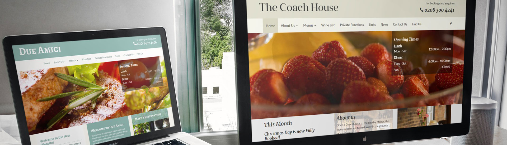 Due Amici and The Coach House websites