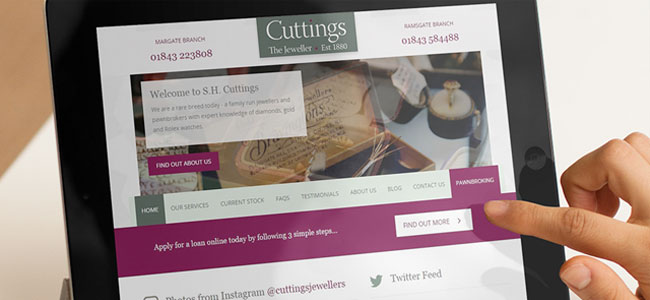 Cuttings the Jewellers website